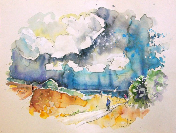 The North, France - Watercolour and Ink - By Miki, Summer 2007